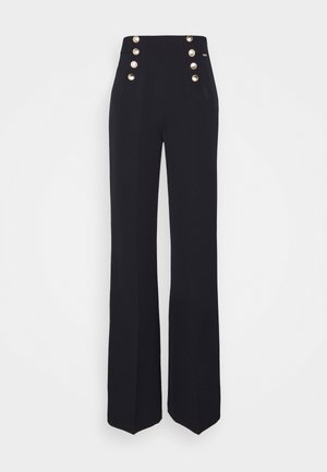 PANT FLARE - Trousers - blu navy