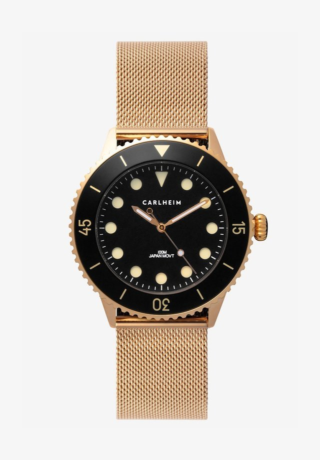 DIVER 40MM MESH - Horloge - rose gold-black