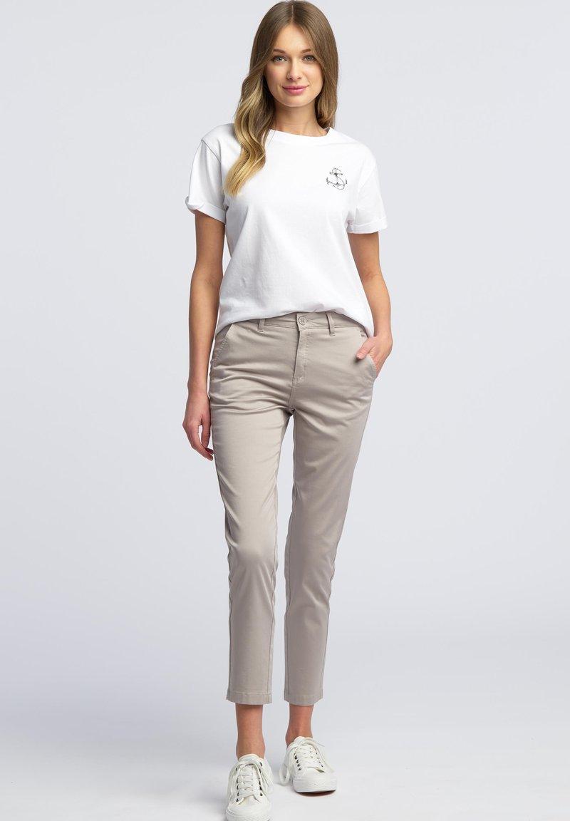 WÓLCZANKA - Spodnie materiałowe - grey