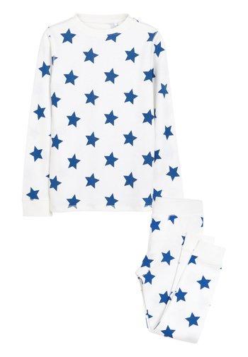 BLUE STAR PRINTED SNUGGLE THERMAL SET (1.5-16YRS) - Pyjama set - white