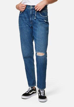 STELLA - Straight leg jeans - dark ripped denim