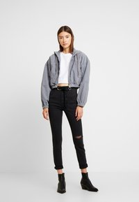 BDG Urban Outfitters - HOODED CROP - Summer jacket - grey