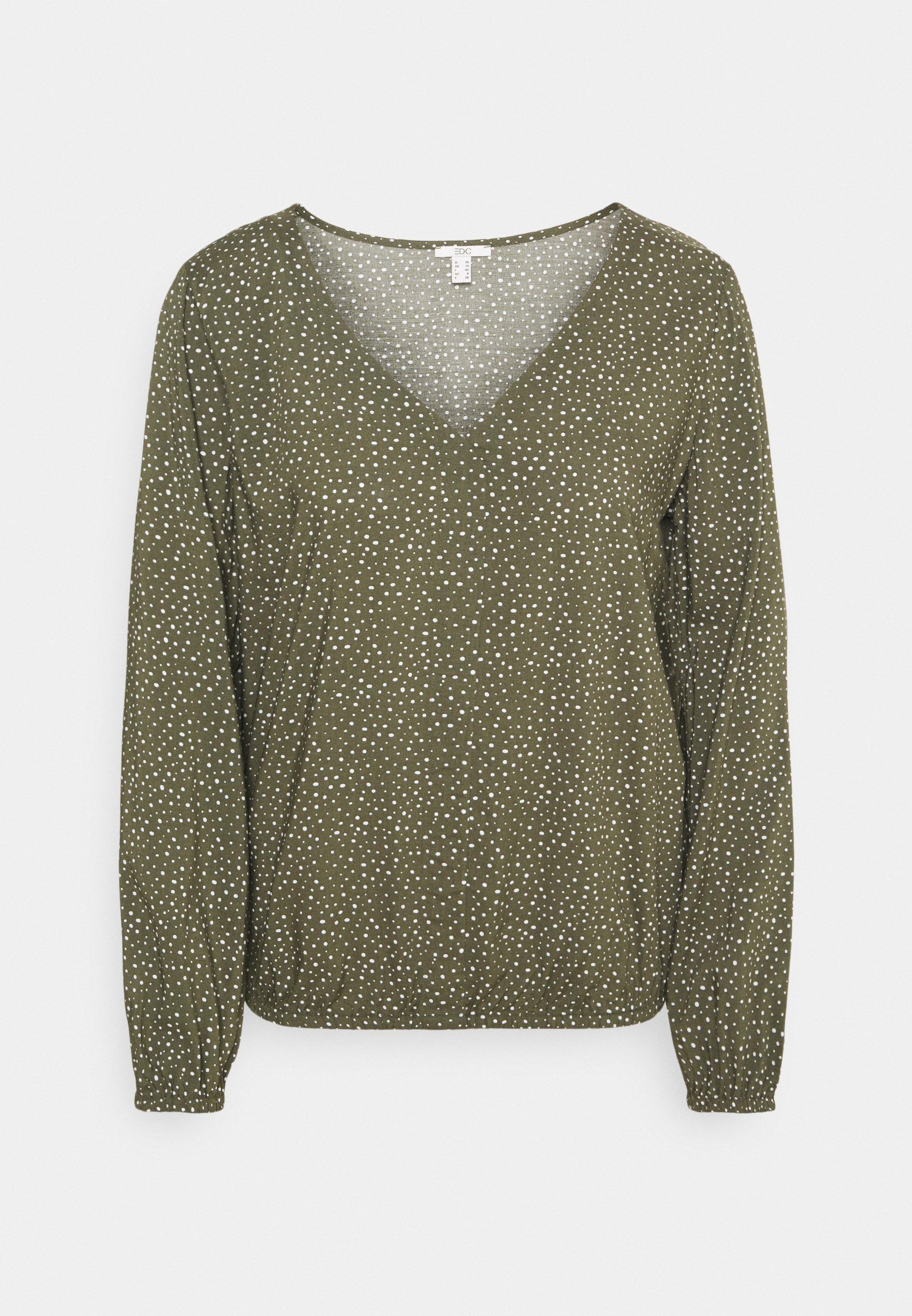 Women Blouse - khaki green