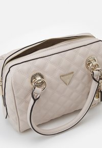 Guess - CESSILY BOX SATCHEL - Handbag - stone - 2