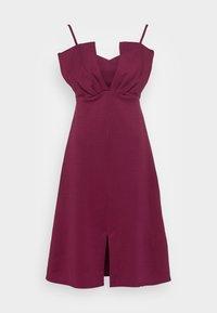 Closet - CLOSET RUFFLE BODICE - Cocktail dress / Party dress - plum - 3