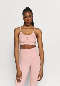 Nike Performance - INDY YOGA ESSENTIALS BRA - Light support sports bra - pink glaze/rust pink - 0