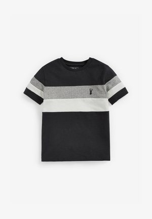 MONOCHROME TEXTURED COLOURBLOCK - Print T-shirt - grey
