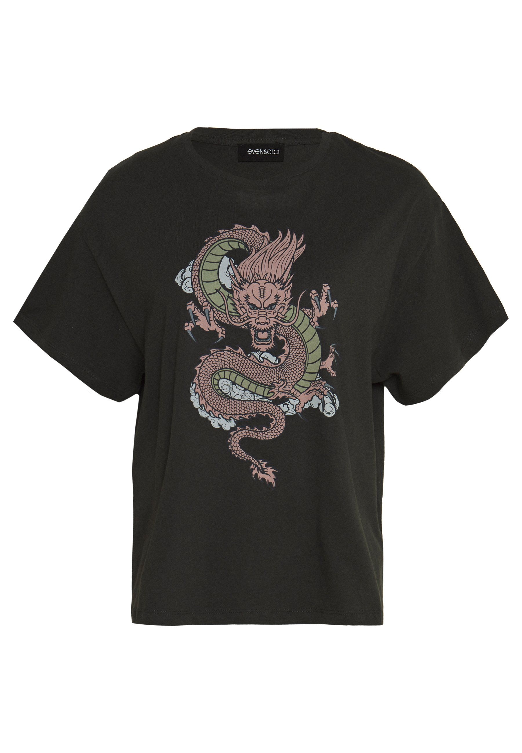 Even&Odd active T-shirts med print - coral