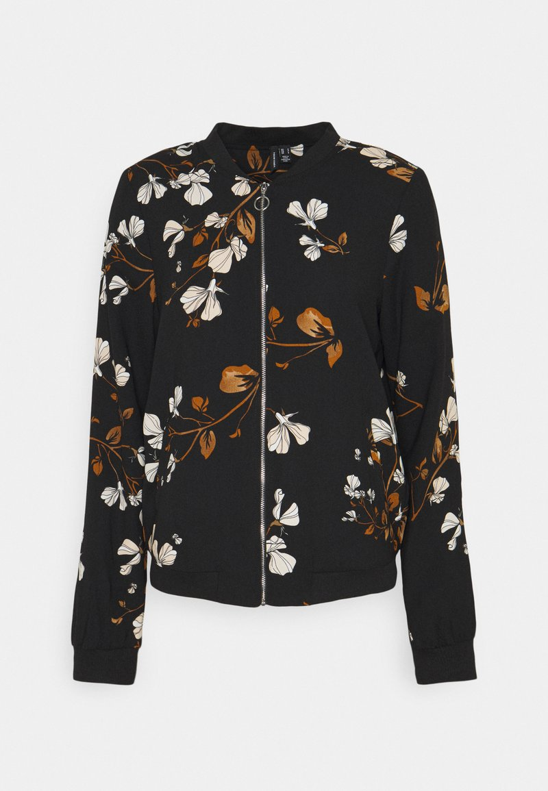 Vero Moda Tall - VMANNIE BOMBER TALL - Bombejakke - black/hallie