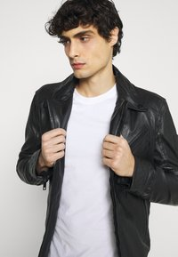 Strellson - PARKS - Leather jacket - black - 5