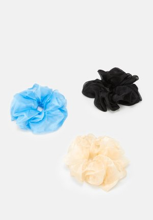 PCPAXTON OVERSIZED SCRUNCHIE 3 PACK - Hair styling accessory - black/blue/white