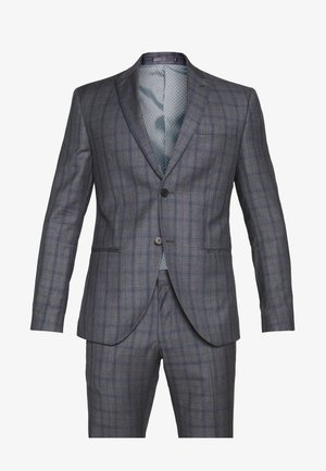 CHECK SUIT - Kostym - grey