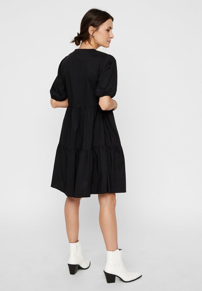 wickelkleid puffÄrmel - freizeitkleid - black