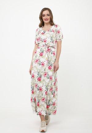 Maxi dress - beige, rosa