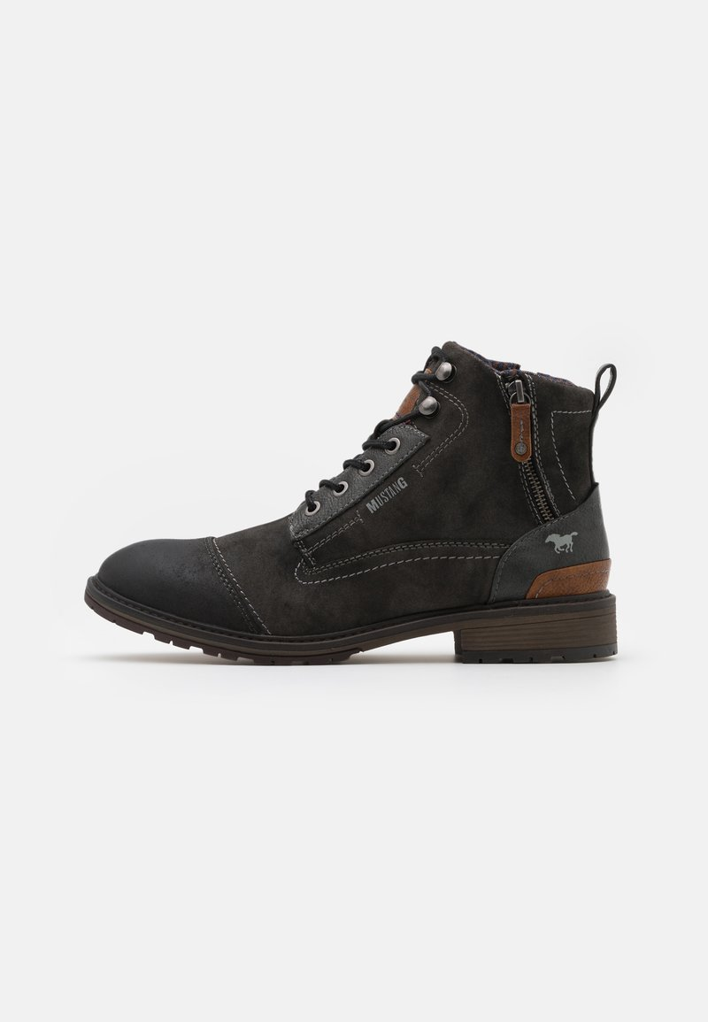 Mustang - Lace-up ankle boots - black