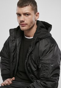 Brandit - HOODED  - Light jacket - black - 5