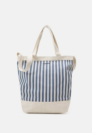 WOMEN'S STRIPED SHOPPER - Shopping bag - blue