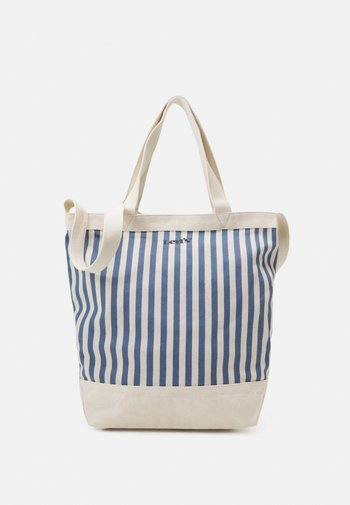 WOMEN'S STRIPED SHOPPER - Shopping bag - blue