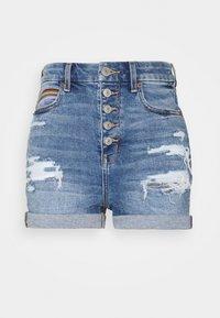 CURVY SHORTIE - Denim shorts - medium vintage wash