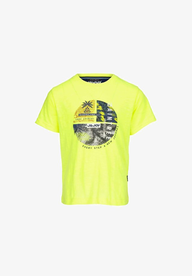 T-shirt print - yellow