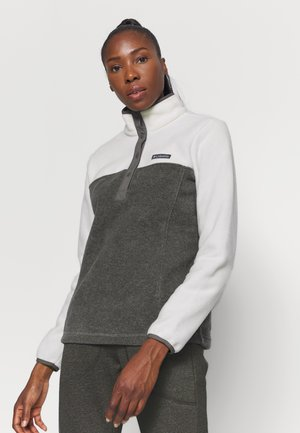 BENTON 1/2 SNAP - Fleece trui - city grey heather/chalk