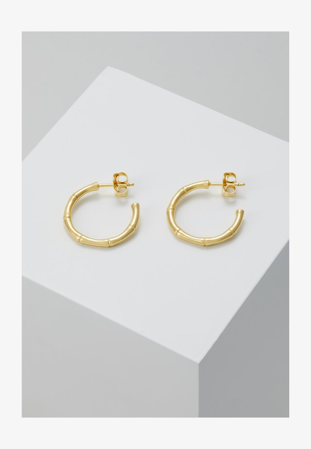 BAMBOO HOOPS - Øreringe - gold-coloured