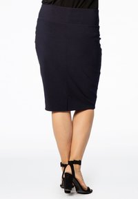 Yoek - JUPE BASIS - Pencil skirt - navy - 2