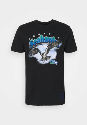 NFL SEATTLE SEAHAWKS ANIMAL TEE - Equipación de clubes - black
