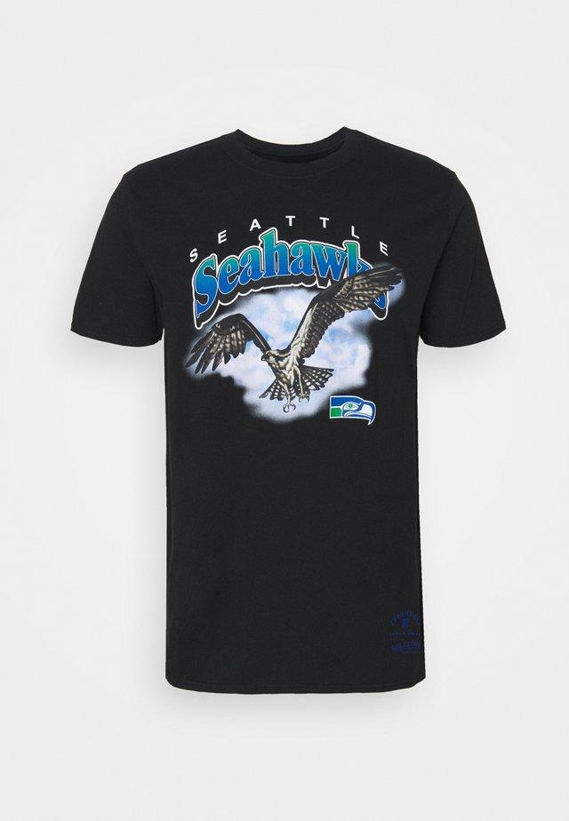 NFL SEATTLE SEAHAWKS ANIMAL TEE - Club wear - black