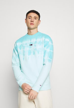 TIE DYE CREW - Collegepaita - light chlorine blue
