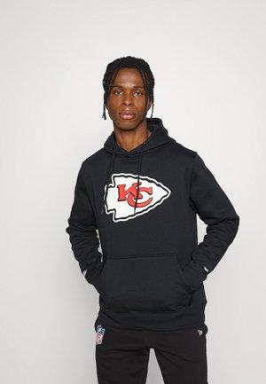 NFL KANSAS CITY CHIEFS MID ESSENTIALS CREST GRAPHIC HOODIE - Sweatshirt - black