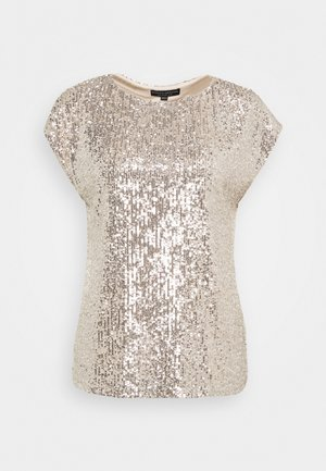 SEQUIN TEE - T-shirts med print - champagne
