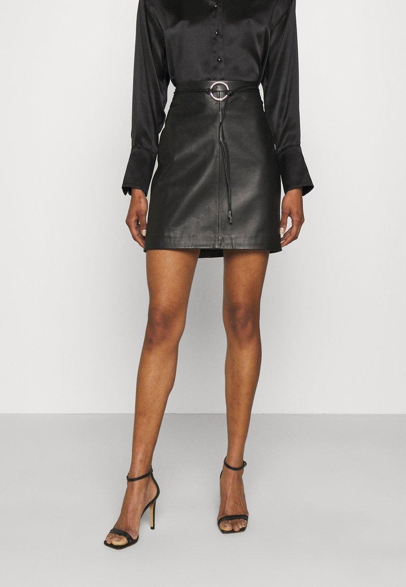 HUGO - LELISA - Pencil skirt - black