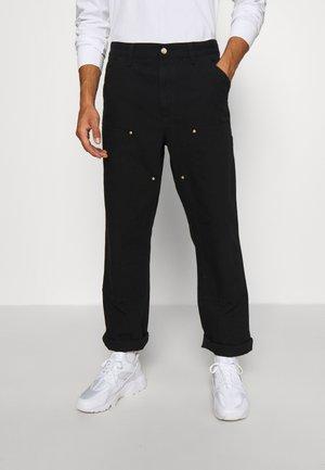 DOUBLE KNEE PANT DEARBORN - Spodnie materiałowe - black rinsed