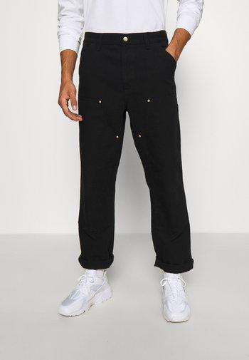 DOUBLE KNEE PANT DEARBORN - Pantalon classique - black rinsed