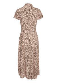 Soaked in Luxury - SLARJANA MAXI DRESS - Shirt dress - preppy animal peachy - 1