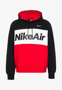 Nike Sportswear - AIR HOODIE - Hoodie - black/white/university red - 4