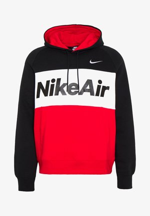 AIR HOODIE - Sweat à capuche - black/white/university red