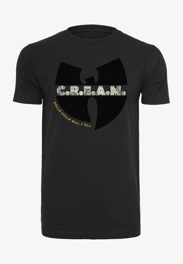WU-WEAR C.R.E.A.M. - T-shirt imprimé - black