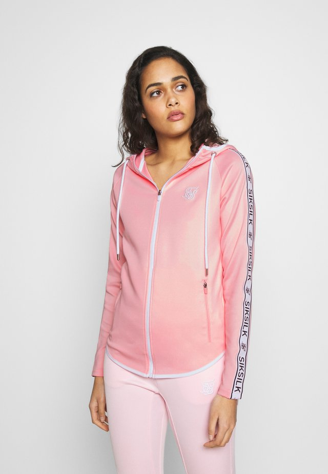 ATHLETE FADE ZIP THROUGH HOODIE - Sweatjacke - pink