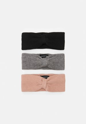 3 PACK - Beanie - black/grey/light pink