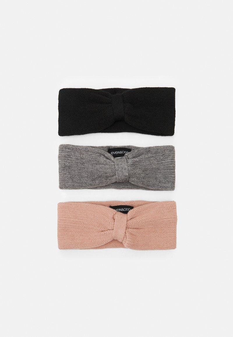 Even&Odd - 3 PACK - Bonnet - black/grey/light pink