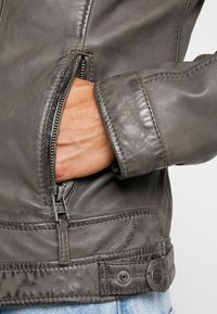 Oakwood - CASEY  - Veste en cuir - anthracite - 3