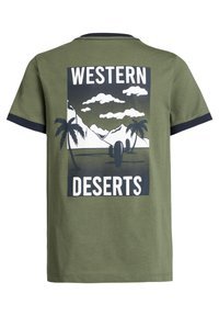 WE Fashion - T-shirt print - army green - 4