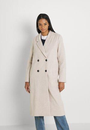 Klasický kabát - beige dusty light