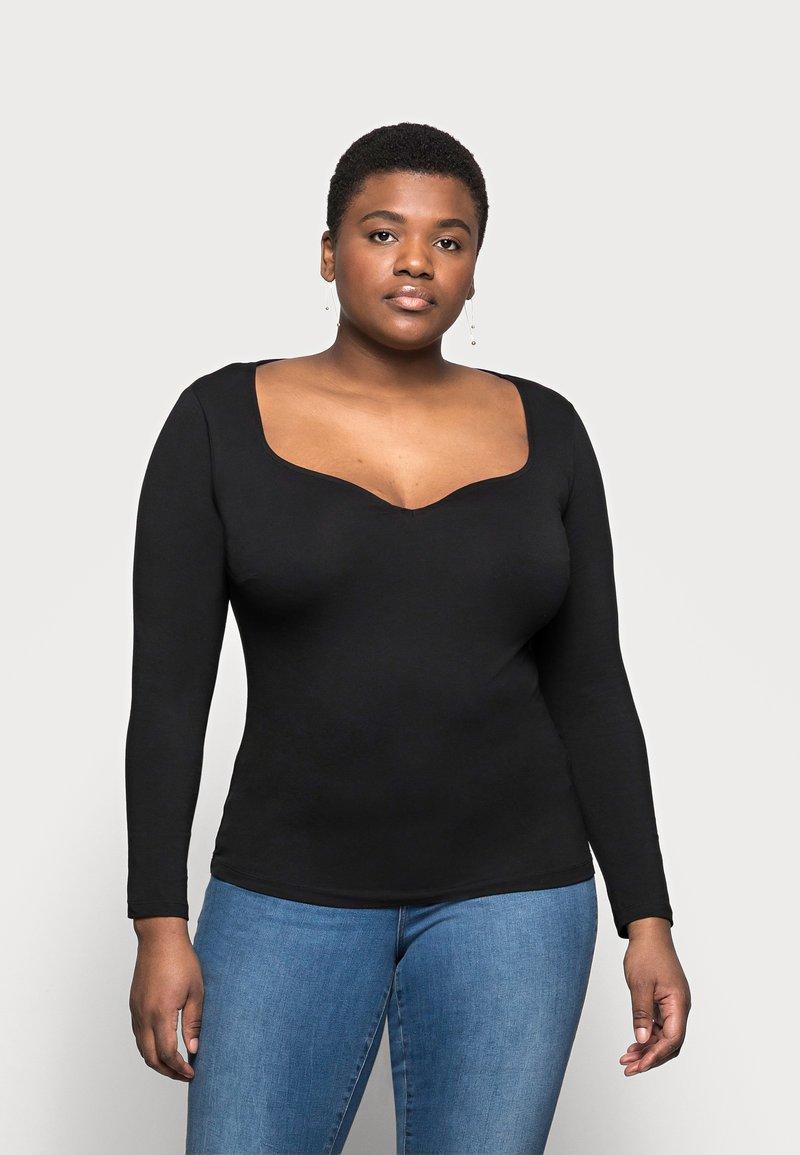 Anna Field Curvy - Long sleeved top - black
