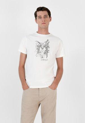 STITCH TEE II - Print T-shirt - off white