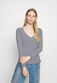 Anna Field - Long sleeved top - dark blue/white - 0