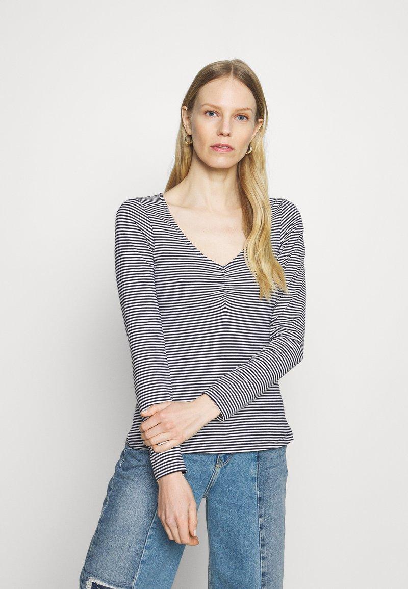Anna Field - Long sleeved top - dark blue/white