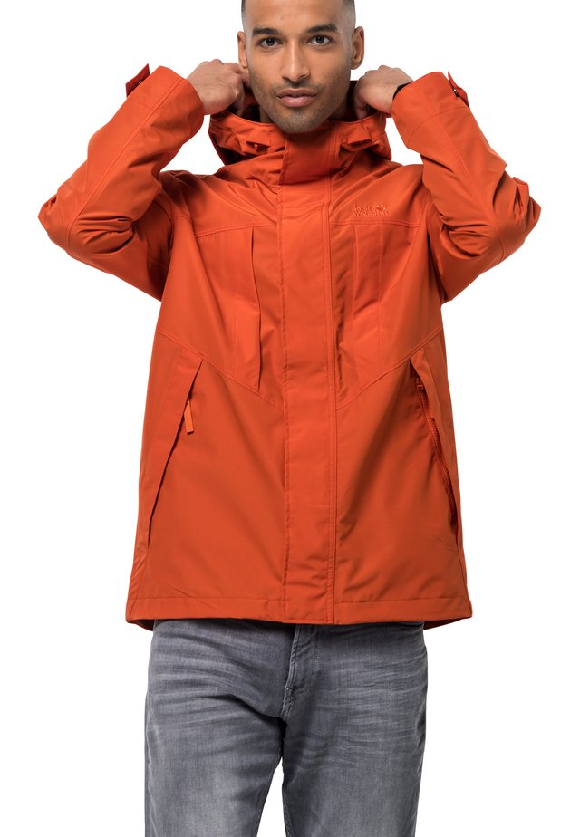 BALDOCK - Waterproof jacket - chili